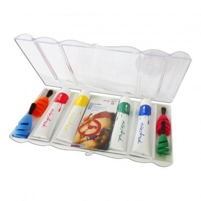 Fingermax Pinceles para dedos con pintura colores primarios-listing