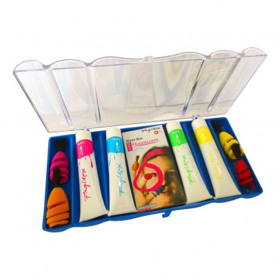 Fingermax Pinceles para dedos con pintura flúor-listing