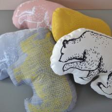 Anne Fontaimpe Coussin Rhinocéros 30x20 cm-listing