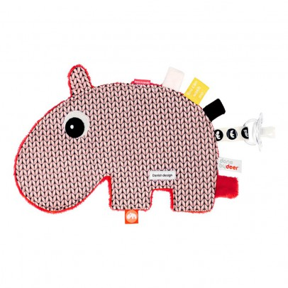 Done by deer Plush Pacifier Attachment - Ozzo the Hippo-listing