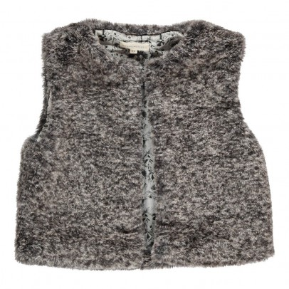 Hundred Pieces Gilet Fausse Fourrure Passiflore-listing