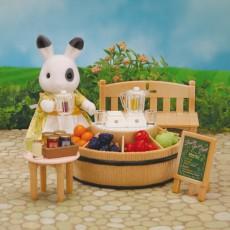 Sylvanian Bar à jus de fruit et figurine-listing
