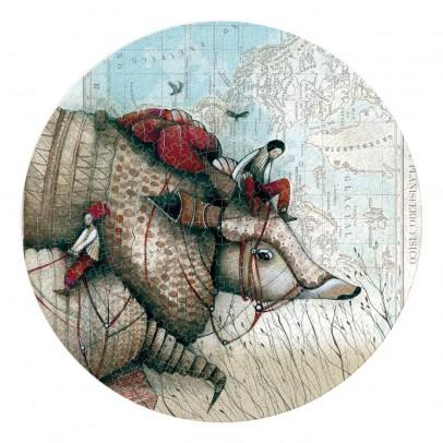 Londji Puzzle redondo Tatou 500 piezas-listing