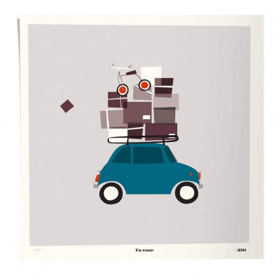 Pleased to meet Poster - En Route 50x50 cm Limited Edition-listing