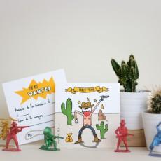 Mathilde Cabanas Invitaciones de cumpleaños Cowboys - Set de 6-listing