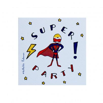 Mathilde Cabanas Superheroes Birthday Party Invitations - Set of 6-listing