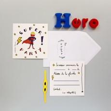 Mathilde Cabanas Invitations anniversaire Super Héros - Set de 6-listing