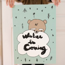 Mathilde Cabanas Affiche Winter is coming 29,7x42 cm-product