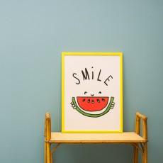 Mathilde Cabanas Affiche Smile 29,7x42 cm-listing