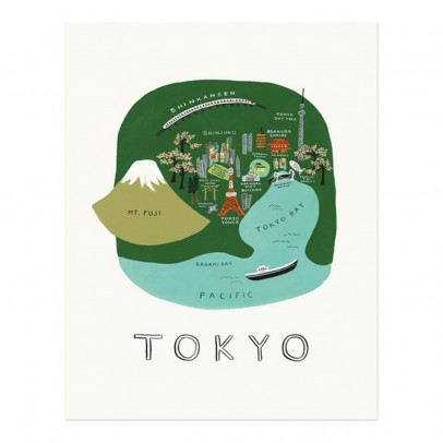 Rifle Paper Co Rifle Paper Tokyo Poster - 28x35 cm-listing