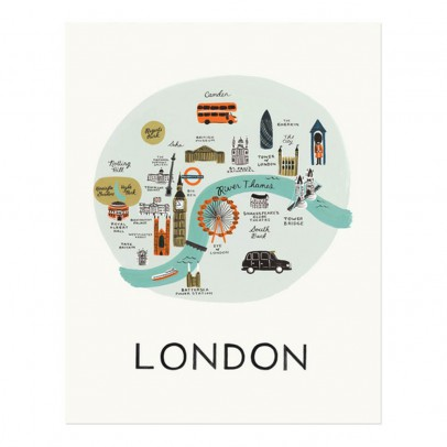 Rifle Paper Co Rifle Paper London Poster - 28x35 cm-listing
