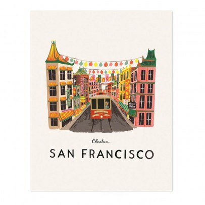 Rifle Paper Co Rifle Paper San Francisco Poster - 28x35 cm-listing