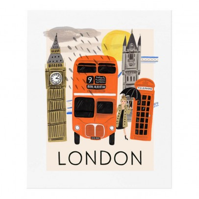 Rifle Paper Co Affiche Rifle Paper Londres orange - 28x35cm-listing