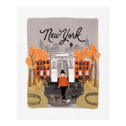 Rifle Paper Co Póster  Rifle Paper New York automne - 28x35 cm-listing