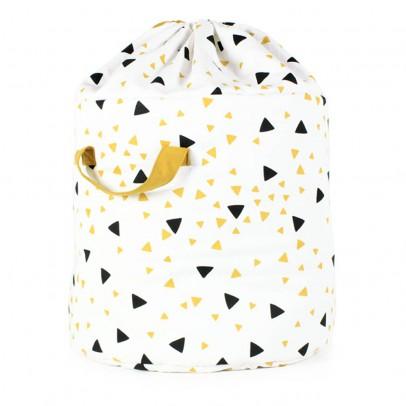 Nobodinoz Storage Bag - Black and Orange Triangles-listing