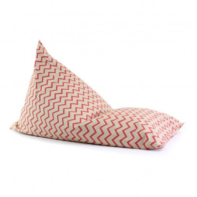 Nobodinoz Cotton Long Pouffe - Zig Zag Pattern-listing