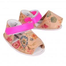 Minorquines Sandales Cuir Fleurs Frailera-listing