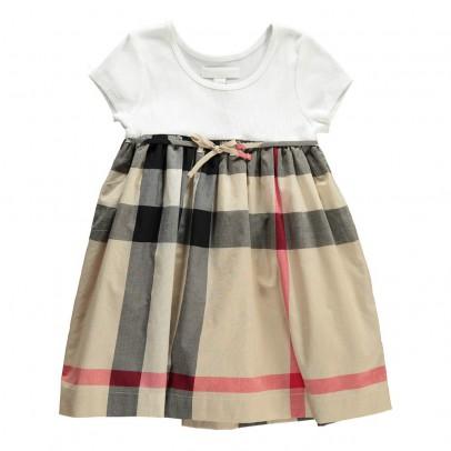 Burberry Rosey Tartan Bi-Material Dress-listing
