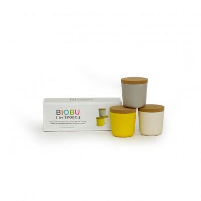 Ekobo Set de 3 pots - Gris, blanc et jaune-listing