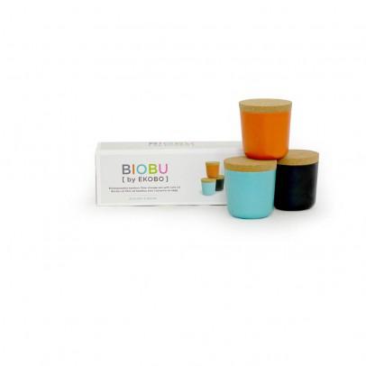 Ekobo Set de 3 recipientes - coral, azul y negro-listing