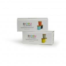 Ekobo Set de 3 pots - Corail, bleu et noir-listing