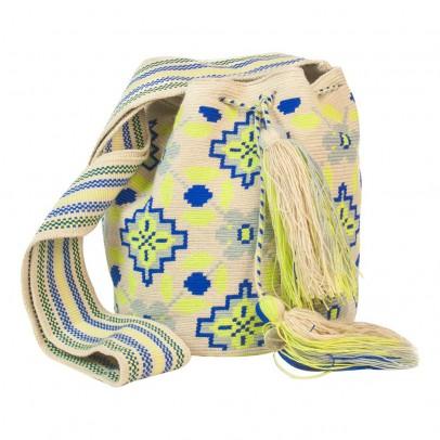 Guanabana Wayuu Fluorescent Fabric Shoulder Bag-listing