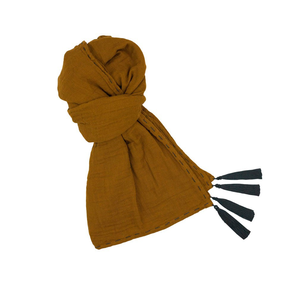 Foulard Pompons 55*160  - Collection Ado et Femme --product
