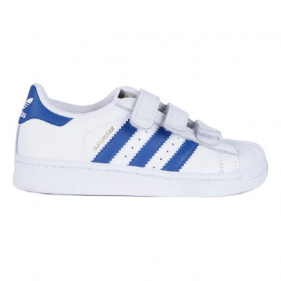 Adidas Blue Superstar Velcro Sneakers-listing