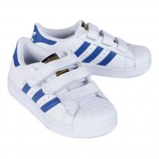 Adidas Baskets Cuir Scratchs Superstar Bleu-listing