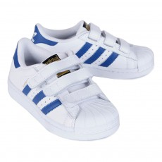 Adidas Zapatillas Velcro Superstar Azul-listing