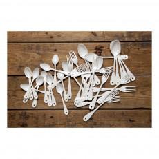 Variopinte Tenedor esmaltado-listing