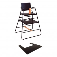 Budtzbendix Chaise haute Towerchair - Noir et cuir naturel-listing