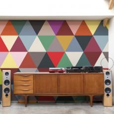 Bien Fait Mosaic Triangles 182x280cm Wallpaper - 2 strips-listing