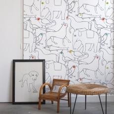 Bien Fait Papier-peint The Animals 182x280 cm - 2 lés-listing
