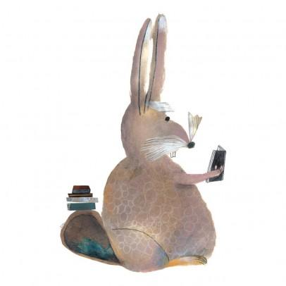 Bien Fait Papier-peint Lapin 112x200 cm - Illustration par Beatrice Alemagna-listing