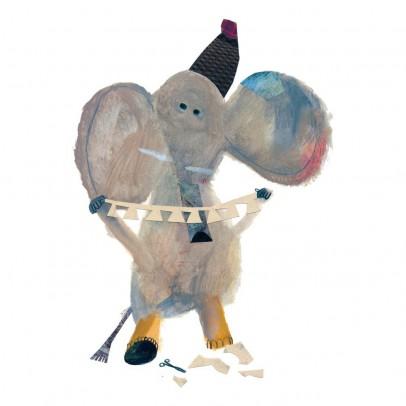 Bien Fait Carta da Parati Elefante 112x200cm-Illustrazione di Beatrice Alemanna-listing