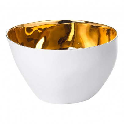 Tse & Tse Platinum-Porcelin Hungry Man Large Salad Bowl-listing