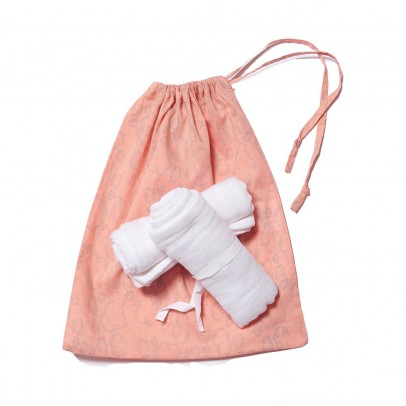 Sweetcase Pouch with two swaddling blankets - Cloud-listing