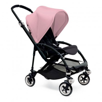 Bugaboo BEE³ Black Frame Complete Pushchair, Pale Pink-listing