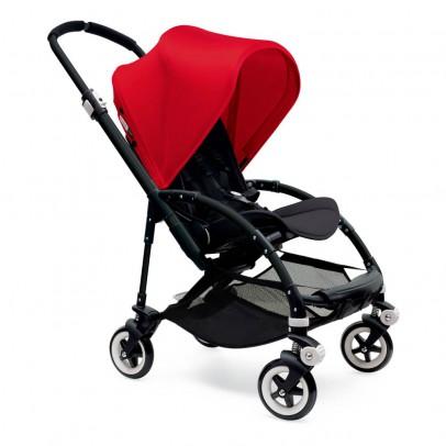 Bugaboo Poussette complète BEE³ châssis noir, assise noire,  rouge-listing