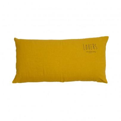 """Bed and philosophy Cuscino Guarnito in Lino Lavato Serigrafia """"Lovers"""" - 55x110cm-listing"""
