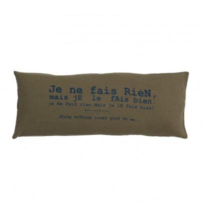 """Bed and philosophy Kissen aus Leinen """"Je ne fais rien mais je le fais bien"""" - 30x70 cm-listing"""