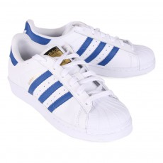 Adidas White Superstar Laced Sneakers-listing