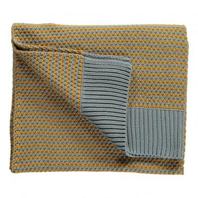 Lab Plaid en maille - jaune moutarde et gris pâle Lab x Smallable-listing