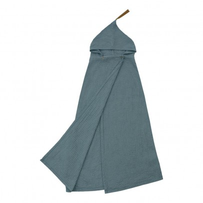 Numero 74 Kids Bath Robe - Blue gray-listing