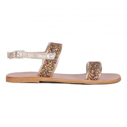 Manuela de Juan  Helena Sequined Leather Sandals-listing