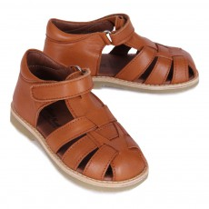Petit Nord Natural Natural Leather Velcro Sandals-listing