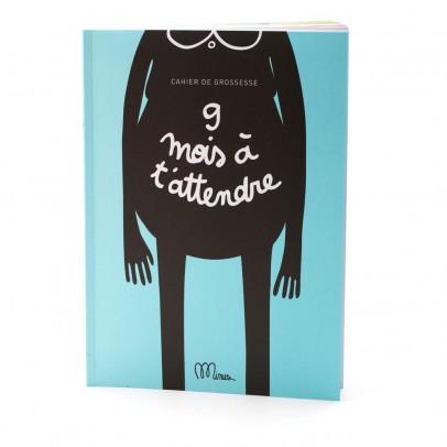 """Minus Editions Cahier de grossesse """"9 mois à t'attendre""""-product"""
