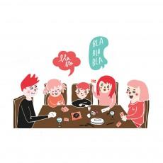"""Minus Editions Jeu en famille - Kit de discussion """"A table !""""-listing"""