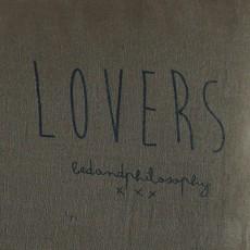 """Bed and philosophy Kissen aus Leinen mit Siebdruck bedruckt """"Lovers"""" - 55x110 cm-listing"""